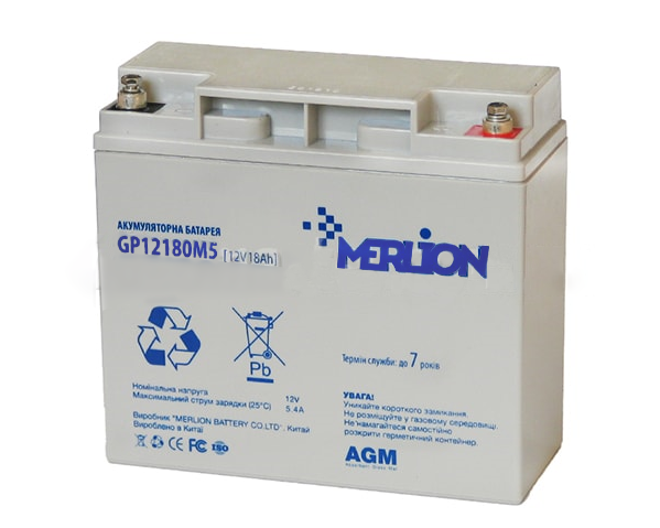 MERLION AGM GP1218M5 12V 18Ah АКБ