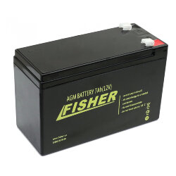 Fisher AGM 12V 7Ah, 12В 7Ач АКБ