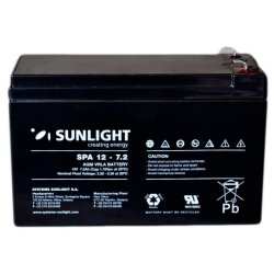 SUNLIGHT SP (SPa) 12 - 7.2 АКБ 12V 7,2Ah, 12В 7.2Ач