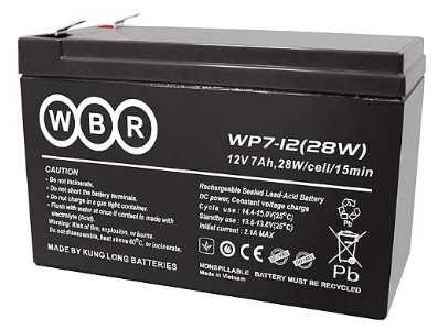 WBR (Long) WP7-12 (12V 7Ah, 12В 7Ач) Не китай-Вьетнам