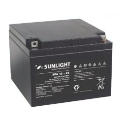 SUNLIGHT SP (SPa) 12 - 26 АКБ 12V 26Ah, 12В 26Ач